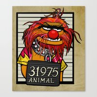 Mug Shot Canvas Print
