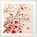 Oriental plum blossom in spring Art Print