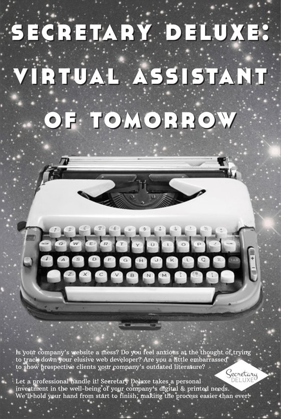 Secretary Deluxe: Virtual Assistant of Tomorrow Art Print