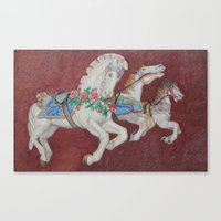 Carousel Race Canvas Print
