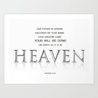 As it is in HEAVEN Art Print