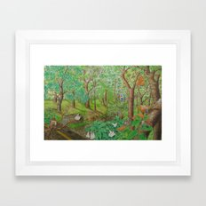 A Day of Forest (1). (walk into the forest) Framed Art Print