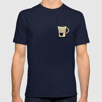 Sleepy Time Coffee  Mens Fitted Tee Navy SMALL