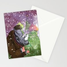 Russian Rhino Stationery Cards