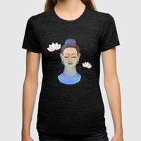 Buddha Womens Fitted Tee Tri-Black SMALL