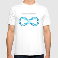 Diamonds Are Forever Mens Fitted Tee White SMALL