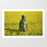 Stranded In The Sunflowe… Art Print