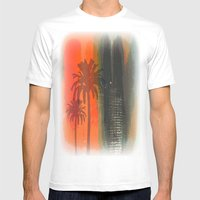 Untitled Digital Abstract Mens Fitted Tee White SMALL
