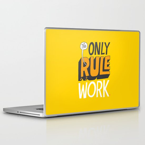 The Only Rule Laptop & iPad Skin