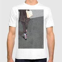 Argyle Socks by Kat Mills Mens Fitted Tee White SMALL