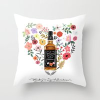 Whiskey Is Liquid Sunshine Throw Pillow