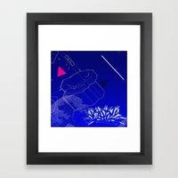 Blue Wave Graffiti  Framed Art Print
