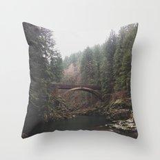 Bridge at Moulton Falls, WA Throw Pillow