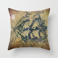 The Great Sky Ship Throw Pillow