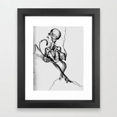 Lady Profile Framed Art Print