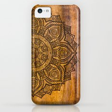 Mandala on wood iPhone 5c Slim Case