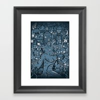 WOLVES OF PERIGORD Framed Art Print