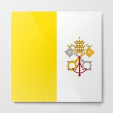 Flag of vatican city Metal Print