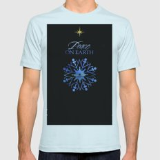 Peace on Earth Light Blue SMALL Mens Fitted Tee