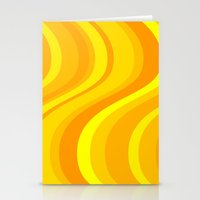 Orange Waves Stationery Cards