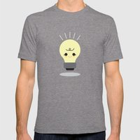 Lil' Light Bulb  Mens Fitted Tee Tri-Grey SMALL