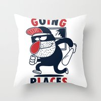 Going Places. Throw Pillow
