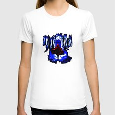 Red Riding Hood Tardis Womens Fitted Tee White SMALL