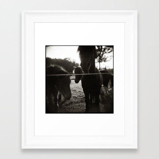 { pony pals } Framed Art Print