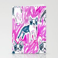 Boston Terrier Stare Stationery Cards