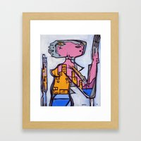 Lizard Lady Framed Art Print