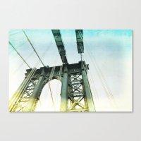 Manhattan Bridge In The … Canvas Print
