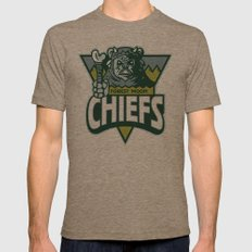 Forest Moon Chiefs Mens Fitted Tee Tri-Coffee SMALL