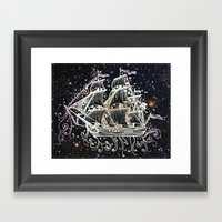 The Great Sky Ship II Framed Art Print