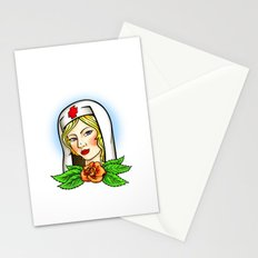 Nurse tattoo flash Stationery Cards