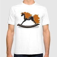 Peta Approved Racehorse Mens Fitted Tee White SMALL