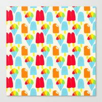 Hypersaturated Summer Tr… Canvas Print