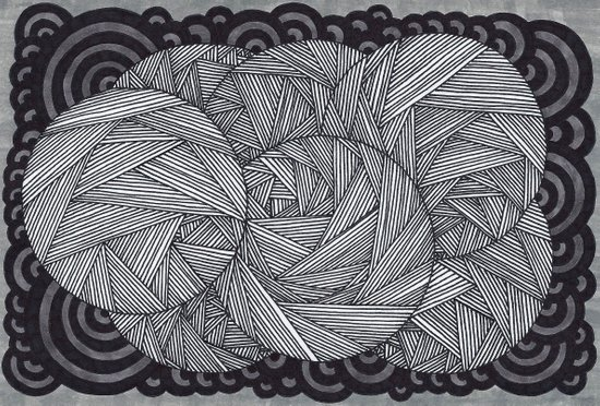 Molecular 6 Art Print