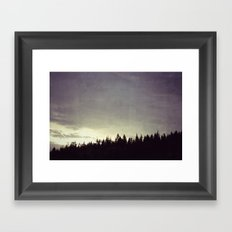Sunset Over Trees Framed Art Print