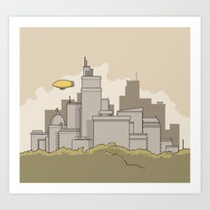 Wilbur's Big City Art Print