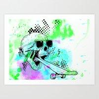 Skater Deadication Art Print