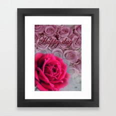 Happy day  Framed Art Print