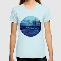 Telescope 3 harbour twilight Womens Fitted Tee Light Blue SMALL