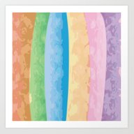 Art Print featuring Pastel Shades by Whiteflash