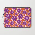 retro purple flower Laptop Sleeve