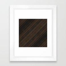 Ebony Macassar Wood Framed Art Print