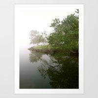 fog clearing Art Print