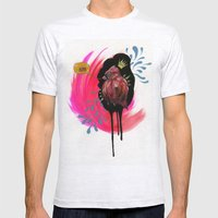 Fat Bird Demands Cake Mens Fitted Tee Ash Grey SMALL