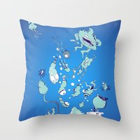 Aquatic Creatures Throw Pillow