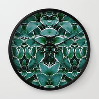 50 Shades Of Green (8) Wall Clock