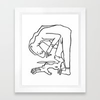 Bear Man to the Rescue Framed Art Print